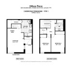 Floorplans for 2 Bedroom Town House in Ottawa South