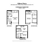 Floorplans for 3 Bedroom Town Home in South Ottawa